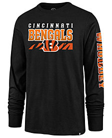 '47 Brand Men's Cincinnati Bengals Level Up Long Sleeve Super Rival T-Shirt