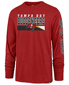 '47 Brand Men's Tampa Bay Buccaneers Level Up Long Sleeve Super Rival T-Shirt