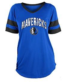 5th & Ocean Women's Dallas Mavericks Mesh T-Shirt