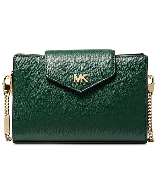 4bd1eeb411f9 Michael Kors Crossgrain Leather Small Crossbody Clutch & Reviews ...