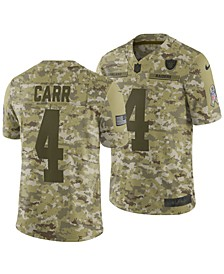 Men's Derek Carr Oakland Raiders Salute To Service Jersey 2018