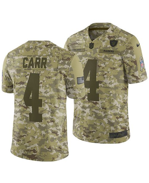 separation shoes a9b97 4d893 Men's Derek Carr Oakland Raiders Salute To Service Jersey 2018