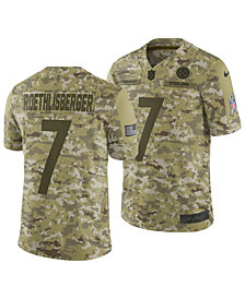 Nike Men's Ben Roethlisberger Pittsburgh Steelers Salute To Service Jersey 2018