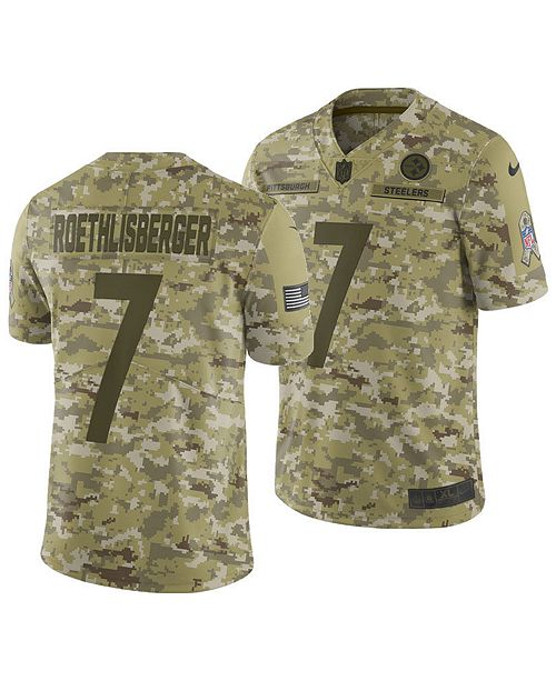 fc72971d18b Nike Men's Ben Roethlisberger Pittsburgh Steelers Salute To Service Jersey  ...