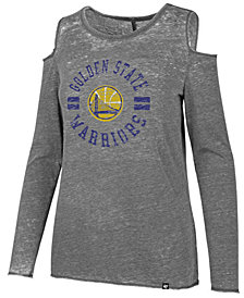 '47 Brand Women's Golden State Warriors Cold Shoulder Long Sleeve T-Shirt