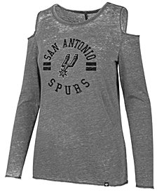 '47 Brand Women's San Antonio Spurs Cold Shoulder Long Sleeve T-Shirt