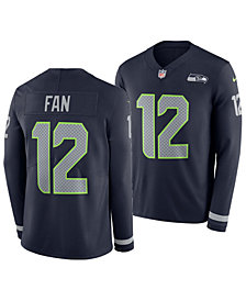 Nike Men's Fan #12 Seattle Seahawks Therma Jersey