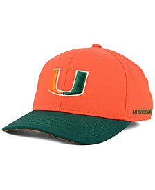 adidas Miami Hurricanes Coaches Flex Stretch Fitted Cap 2018