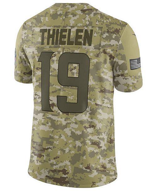 f6549acc Nike Men's Adam Thielen Minnesota Vikings Salute To Service Jersey ...