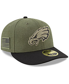 New Era Philadelphia Eagles Salute To Service Low Profile 59FIFTY Fitted Cap 2018