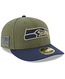 aea1d4f7f New Era Seattle Seahawks Salute To Service Low Profile 59FIFTY Fitted Cap  2018