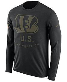 Nike Men's Cincinnati Bengals Salute To Service Legend Long Sleeve T-Shirt