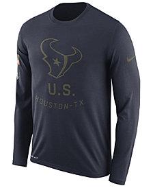 Nike Men's Houston Texans Salute To Service Legend Long Sleeve T-Shirt