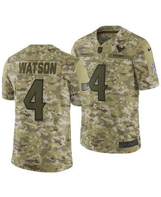 Nike Men's DeShaun Watson Houston Texans Salute To Service Jersey ...