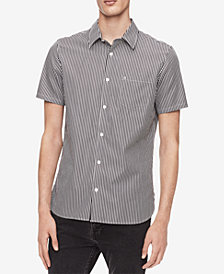 Calvin Klein Men's Striped French Placket Shirt