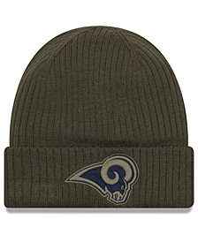New Era Los Angeles Rams Salute To Service Cuff Knit Hat