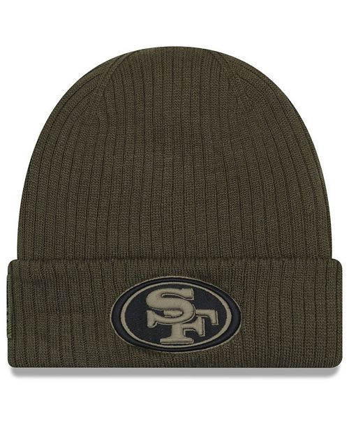 934ebb6ac28a29 ... New Era San Francisco 49ers Salute To Service Cuff Knit Hat ...