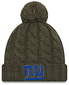 New Era Women's New York Giants Salute To Service Pom Knit Hat