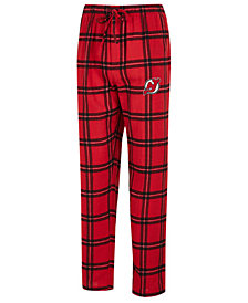 Concepts Sport Men's New Jersey Devils Homestretch Flannel Pajama Pants