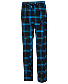 Concepts Sport Men's Carolina Panthers Homestretch Flannel Sleep Pants