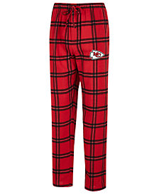 Concepts Sport Men's Kansas City Chiefs Homestretch Flannel Sleep Pants
