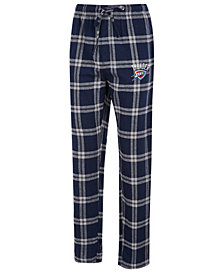 Concepts Sport Men's Oklahoma City Thunder Homestretch Flannel Sleep Pants