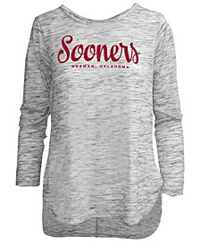Women's Oklahoma Sooners Spacedye Long Sleeve T-Shirt