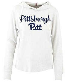 Pressbox Women's Pittsburgh Panthers Cuddle Knit Hooded Sweatshirt