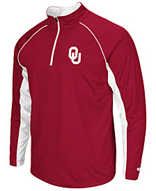 Colosseum Men's Oklahoma Sooners Rival Quarter-Zip Pullover