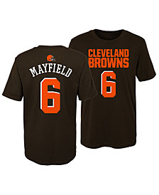 Outerstuff Baker Mayfield Cleveland Browns Mainliner Player T-Shirt, Little Boys (4-7)