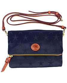 Dooney & Bourke Dallas Cowboys Embossed Nylon Foldover Zip Crossbody