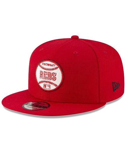 watch 4b557 384e0 ... New Era Cincinnati Reds Vintage Circle 9FIFTY Snapback Cap ...