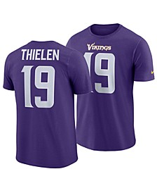 Men's Adam Thielen Minnesota Vikings Pride Name and Number Wordmark T-Shirt