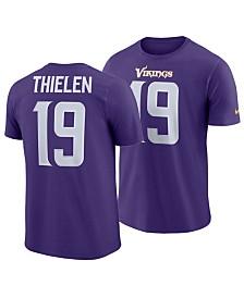 Nike Men's Adam Thielen Minnesota Vikings Pride Name and Number Wordmark T-Shirt