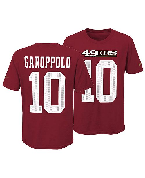 Nike Jimmy Garoppolo San Francisco 49ers Pride Name and Number 3.0 T-Shirt, Big Boys (8-20)