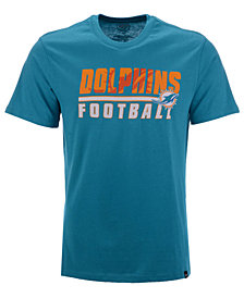 '47 Brand Men's Miami Dolphins Fade Back Super Rival T-Shirt