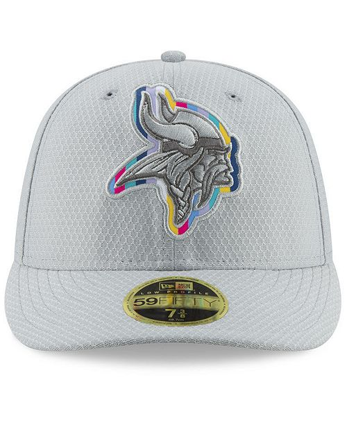online retailer cf9ac 31e1f ... New Era Minnesota Vikings Crucial Catch Low Profile 59FIFTY Fitted Cap  ...