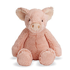 Manhattan Toy Lovelies Pink Piper Pig 12 Inch Plush Toy