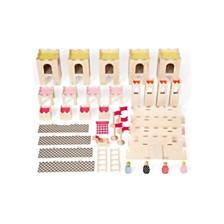 Manhattan Toy Mio Wooden Castle Horse 4 People Imaginative Play Kit