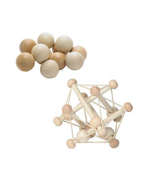 Manhattan Toy Company Manhattan Toy Natural Skwish Rattle And Baby Beads Motor Skill Development Set