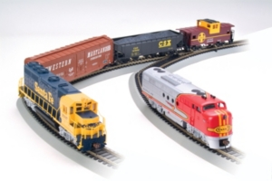 Bachmann Trains Digital Commander Ho Scale Ready To Run Electric Train Set With Gp40 And Ft Diesel Locomotives Santa Fe