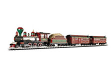 Bachmann Trains White Christmas Large G Scale Ready To Run Electric Train Set