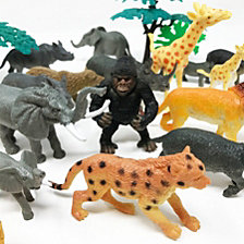 Boley 40 Piece Bucket Of Safari Animal Figures