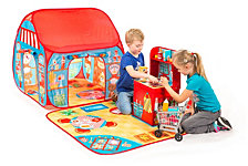 Fun2Give Pop It Up Restaurant And Shop Play Tent With Outside Playmat