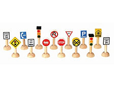 Plantoys Planworld Set Of Traffic Signs And Lights