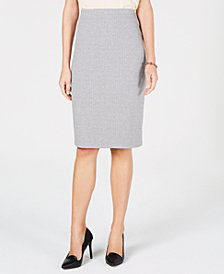 Tommy Hilfiger Herringbone Pencil Skirt, Created for Macy's
