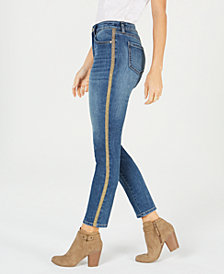 Style & Co Petite Curvy Side-Stripe Skinny Jeans, Created for Macy's