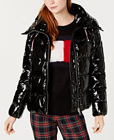 Tommy Hilfiger Shiny Puffer Coat, Created for Macy's