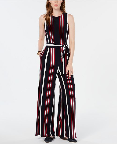 2b56deb9c ... Tommy Hilfiger Signature-Stripe Jumpsuit, Created for Macy's ...
