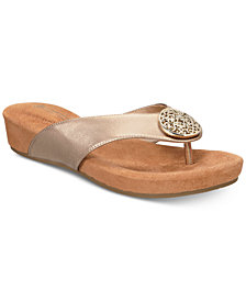 Giani Bernini Ronnah Memory-Foam Sandals, Created for Macy's